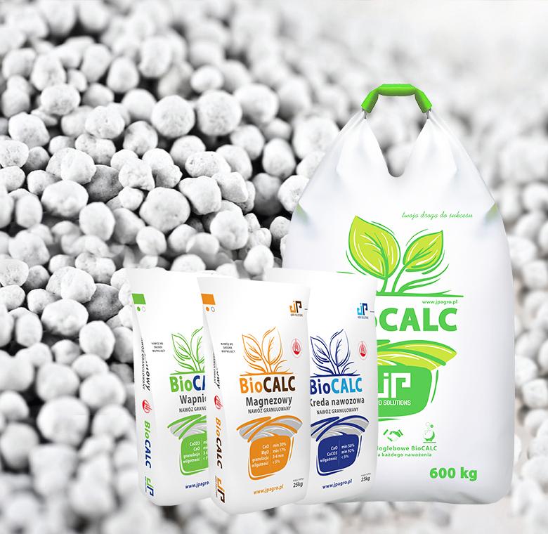 BioCALC nawozy granulowane kreda wapniowy magnezowy
